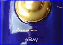 PINON Maurice rare vase art déco porcelaine de Tours bleu Sèvres hauteur 36,5 cm
