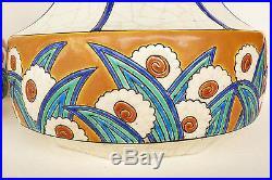 Paire De Vases Longwy Art Deco De Forme Toupie Hauteur 29,1 CM Ref 620