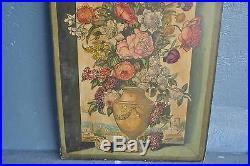 Paire de panneaux décoratif au vase fleuri