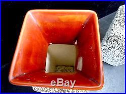 Paire de vase Paul Milet Sèvres Céramiques Art-deco 1925 1950 sang de boeuf