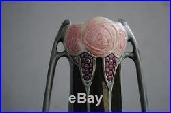 Paire de vase barbotine art nouveau