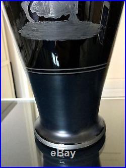 Paire de vases Art Déco signés Hem Verre Décoration