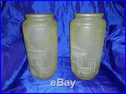 Paire de vases Legras modèle Versailles en ouraline Art Déco