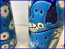 Paire de vases art deco Primavera Longwy