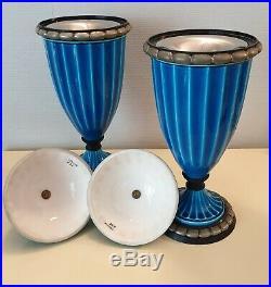 Paul Milet Sevres Paire De Vase Ceramique Époque Art Déco