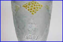 Paul Nicolas, Nancy, grand vase période Art Déco, signé