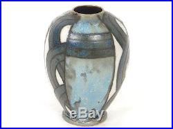 Petit vase HB Quimper Odetta grès polychrome Art Déco XXème siècle