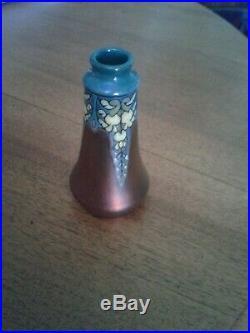 Petit vase art deco ceramique émaillée Montières