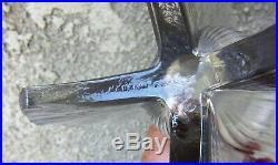 Pierre D'AvesnVase d'époque art deco verre moulé pressé