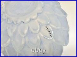 Pierre D Avesn Vase Modele Artichaut Verre Moule Presse Vers 1930 Art Deco G588