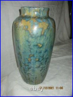 Pierrefonds Ancien Grand Vase Art Deco En Gres De Pierrefonds Signe 42 CM Tbe