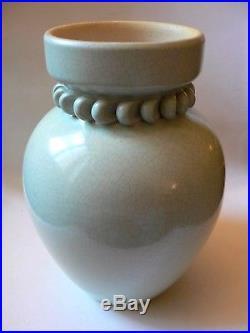 Pol Chambost grand vase céladon design 1940 Art Déco 27 cm