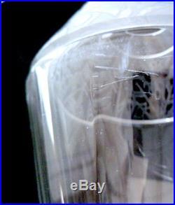 RARE PAIRE VASES Cristallerie Nancy signé ART DECO BACCARAT DAUM 30 cm cristal