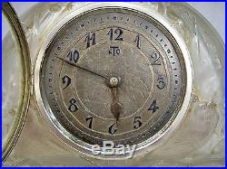 RENÉ LALIQUE BELLE PENDULE ATO MOINEAUX ART DECO VERRE Ca. 1925 CLOCK NO VASE