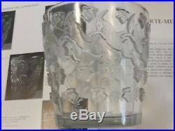 R. Lalique Art Deco 1938 Vase Jurancon Parfait Etat Lave-raisins