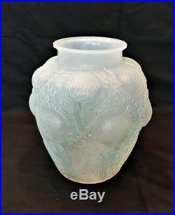 R. Lalique Vase Art Déco Domremy 1926