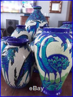Rare Art Deco Vase Charles Catteau Keramis Boch La Louviére Emaux