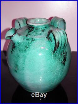 Rare Big Felix Gête Cab Primavera French Art Deco Important Vase