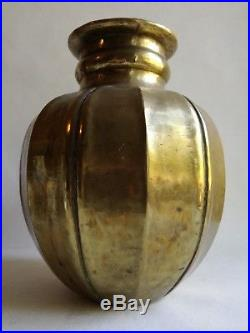 Rare Grand Vase Dinanderie Art Déco Liberato Zola 1933 No Linossier Dunand