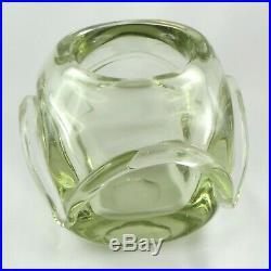Rare VASE Cristal Pierre SCHNEIDER Art Déco crystal/verre/daum/marinot