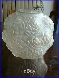 Rare Vase André Hunebelle Modèle Dahlia Art Déco