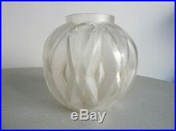 Rare Vase Andre Hunebelle Signe, Art Deco, Parfait Etat