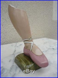 Rare Vase Art Deco Ballerine Danse Colette Gueden Pour Primavera 1930