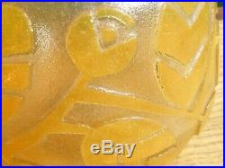 Rare Vase Art Déco Daum Nancy décor aux pommes de pin