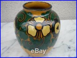 Rare Vase Art Deco Decor Floral Paul Bonifas Fernay Voltaire Ain Savoie Suisse