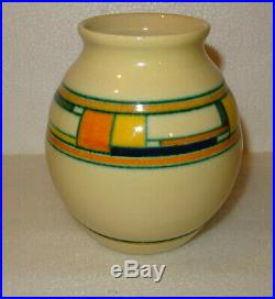Rare Vase Art Deco Velsen Ktp Kennemer Potterij, Pays Bas, Holland, Dutch Vase