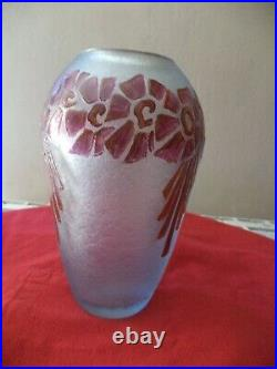 Rare Vase Legras Art Deco Degage A L Acide Era Daum Muller Galle