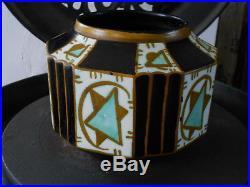Rare Vase de 1925 art deco Charles Catteau Kéramis 1025 1126 Boch la Louvière