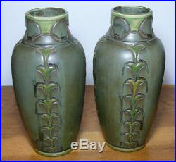 Rare paire de vases DENBAC Art Déco N°449 French Pottery