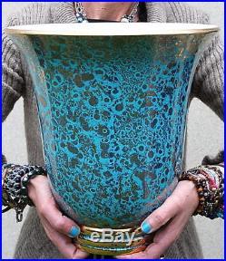 Rare pied de lampe vase céramique vintage art déco Sèvres Jean Mazeaud & Faverot