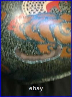 Rare vase Laque art deco signé dlg dunand