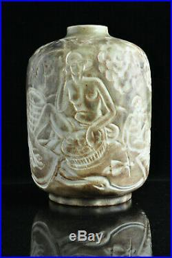 Rare vase Mougin Ventrillon Le Jeune Art Déco Céramique Antique 1930 vase