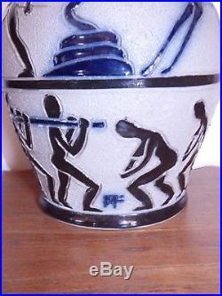 Rare vase roger francois malicorne art deco pièce de musée céramique