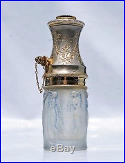 René Lalique Atomiseur Vaporisateur Figurines et Guirlandes patiné vase Art Déco
