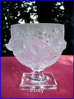 Rene Lalique Bird Vase Vögel Uccello Elisabeth Oiseau Oiseaux Art Deco C 1930 S