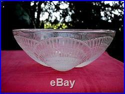 Rene Lalique Coquille Saint Jacque Bowl Plat Saladier Coupe Centre De Table Vase