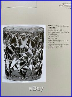 Rene Lalique Rare Gobelet Lierre Porte-cigarettes Art Deco Patine Bleu No Vase