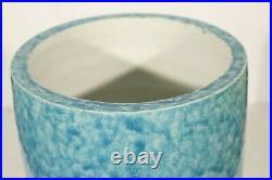 René Meynial Rare grand vase Art Déco bleu céladon aux tritons 1930s