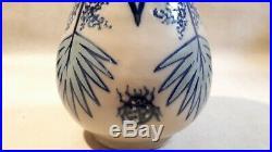 Roger Francois superbe et rare vase Art Déco coccinelle palmier Malicorne