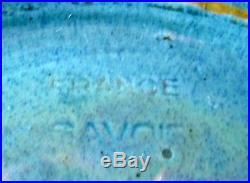 SAVOIE Important rare vase ART DECO Emile SIMONOD SISPA LAC DU BOURGET 40cm