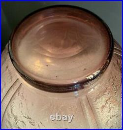SCHNEIDER-LE VERRE FRANCAIS-Vase boule art deco gravé acide-daum-muller-gallé