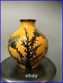 SUPERBE Vase SIMONOD sispa chardons poterie savoie art déco elchinger