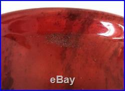 SUPERBE Vase verre soufflé Signé CHARLES SCHNEIDER Série Jades 1925 Art-Déco