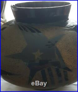 Schneider, très joli vase pansu art déco