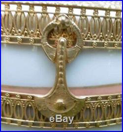 Spectaculaire Vase Art Deco Neo-Empire Egypte Vienna Austria Ceramic
