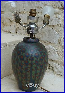 Superbe Lampe Vase Epoque Art Deco Ceramique Gres De Revernay